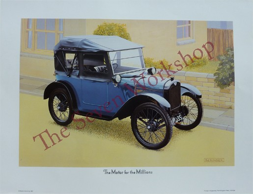 Limited Edition Colour Print of 1922 Chummy - Unsigned Print