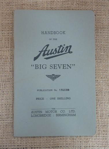 Reprint of The Austin Big Seven Original Handbook